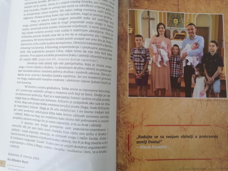 Slika iz knjige fra Mladena Rozića: Obitelj - posljednje uporiše