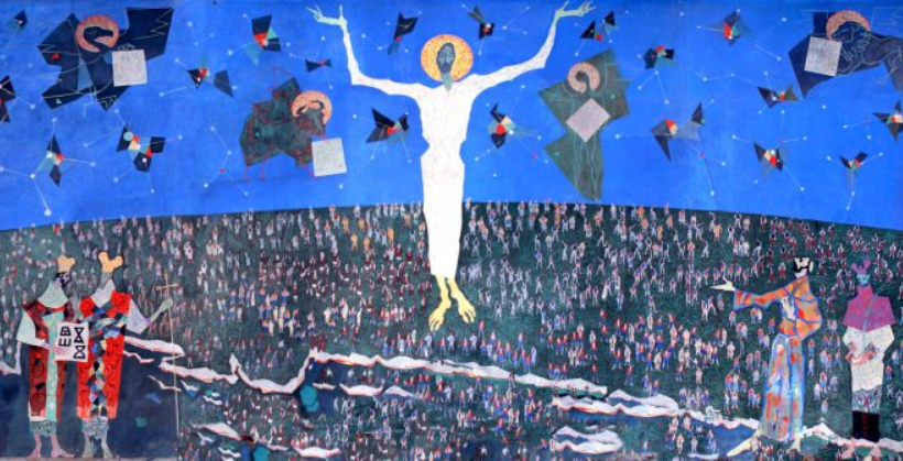 Ivo Dulčić, Uskrsli Krist, u crkvi Gospe od Zdravlja u Splitu