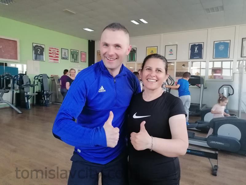 Josip Kovačević i Franka Tomas (pobjednica 2. fitness izazova)