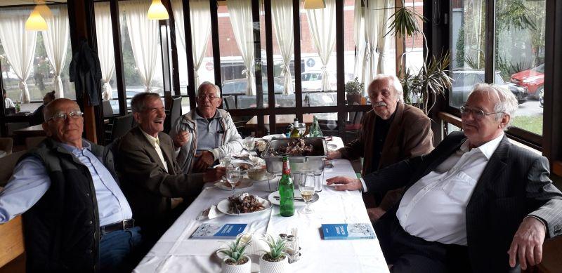 S lijeva na desno: Stjepan Nevistić zvani Zele, Stjepan Čuić - Bikanović, Ante Kukić - Biserović, Ante Matić - Mijušić i Jozo Bagarić – Žoz. Foto: Jasenko Stipac